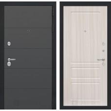 Входная дверь ART графит 03 - Сандал белый