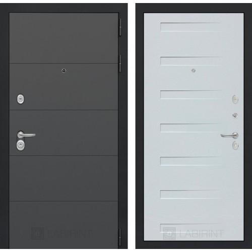 Входная дверь ART графит 14 - Дуб кантри белый горизонтальный