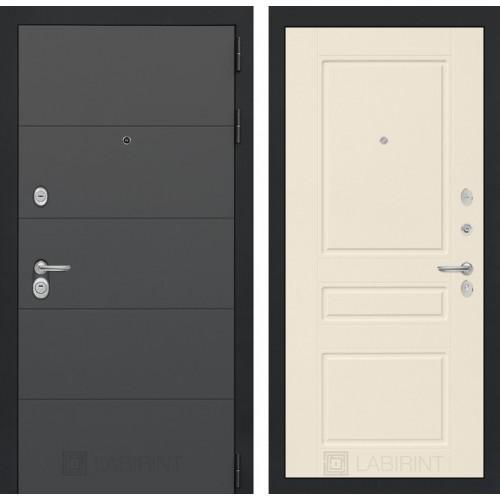Входная дверь ART графит 03 - Крем софт