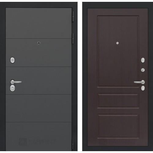 Входная дверь ART графит 03 - Орех премиум