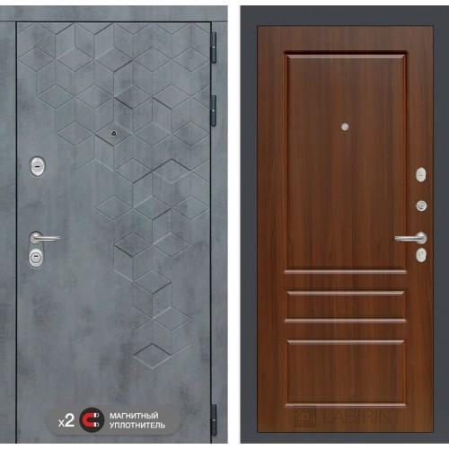 Входная дверь Бетон 03 - Орех бренди