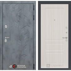 Входная дверь Бетон 03 - Сандал белый