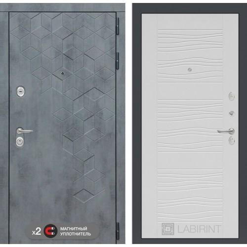 Входная дверь Бетон 06 - Белое дерево