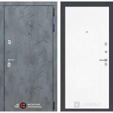 Входная дверь Бетон 07 - Белое дерево