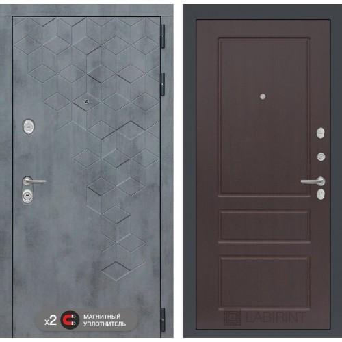 Входная дверь Бетон 03 - Орех премиум