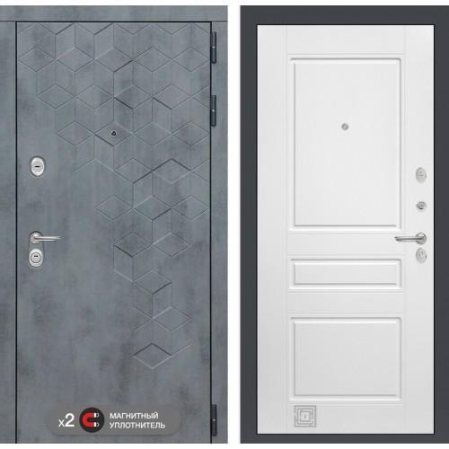 Входная дверь Бетон 03 - Белый софт