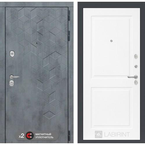 Входная дверь Бетон 11 - Белый софт