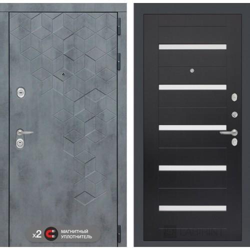 Входная дверь Бетон 01 - Венге, стекло белое