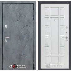 Входная дверь Бетон 12 - Белое дерево