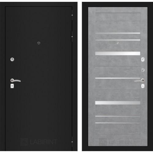 Входная дверь CLASSIC антик медный 20 - Бетон темный, зеркальные вставки