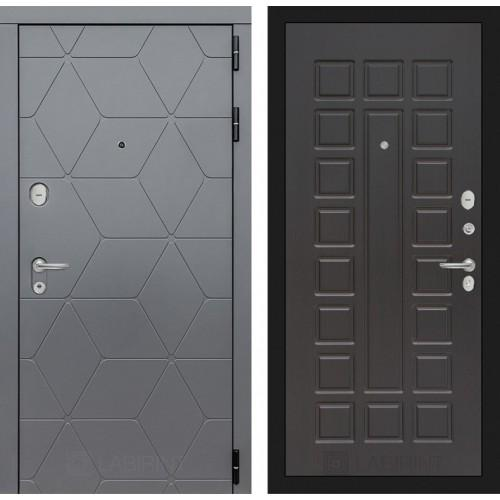 Входная дверь CLASSIC антик медный с Зеркалом 19 - Белый софт