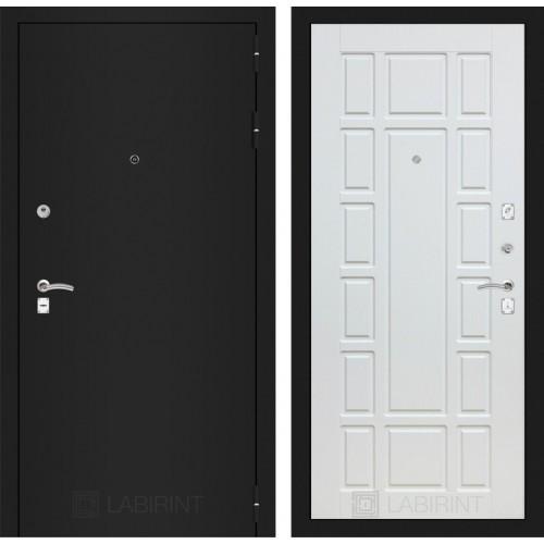 Входная дверь CLASSIC шагрень черная 12 - Белое дерево