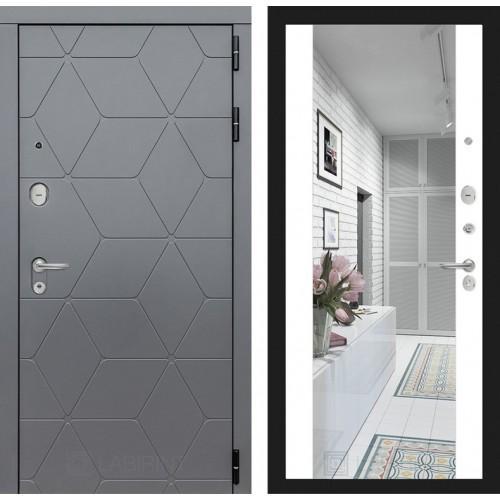 Входная дверь COSMO с зеркалом Максимум - Белый софт