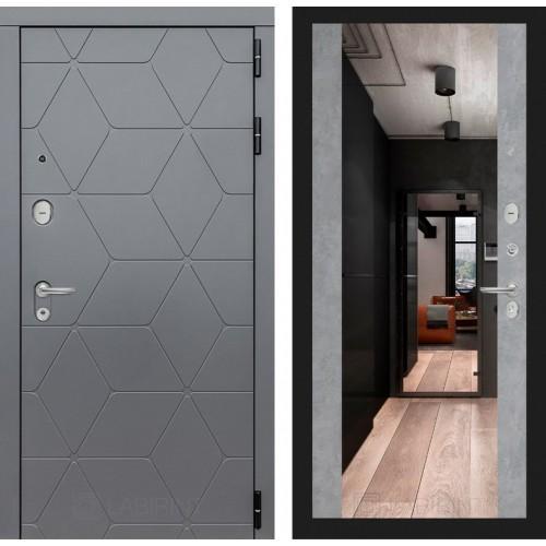 Входная дверь COSMO с зеркалом Максимум - Бетон светлый