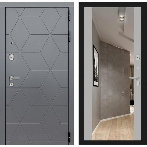 Входная дверь COSMO с зеркалом Максимум - Грей софт