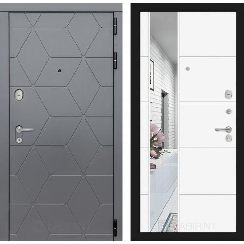 Входная дверь COSMO с зеркалом 19 - Белый софт