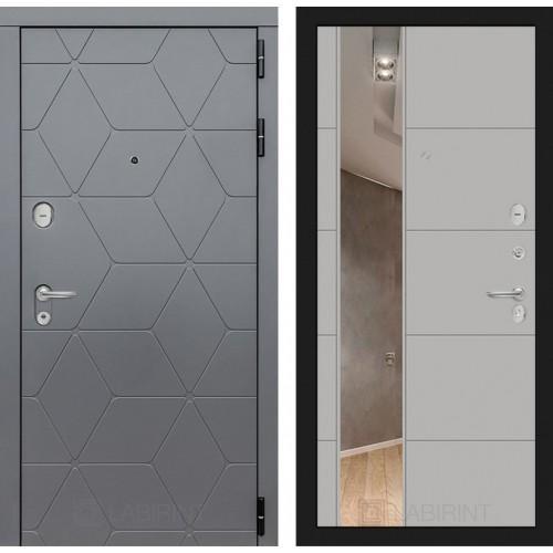 Входная дверь COSMO с зеркалом 19 - Грей софт