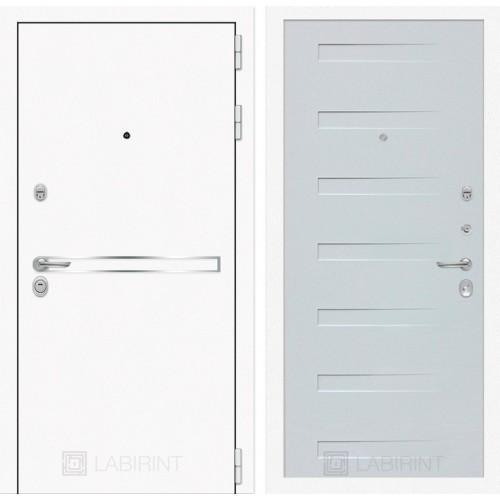 Входная дверь Лайн WHITE 14 - Дуб кантри белый горизонтальный