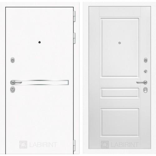 Входная дверь Лайн WHITE 03 - Белый софт