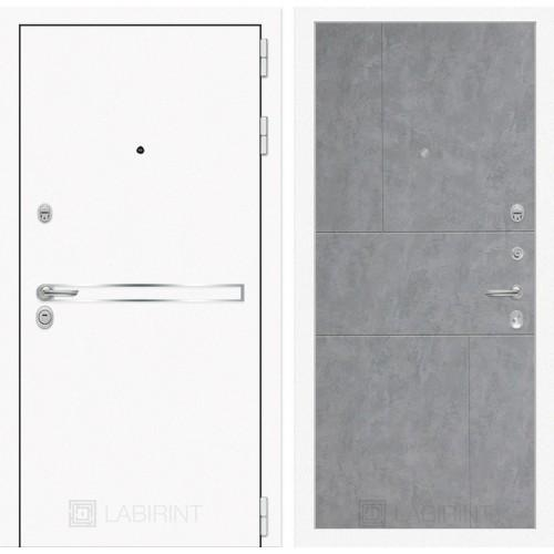 Входная дверь Лайн WHITE 21 - Бетон светлый