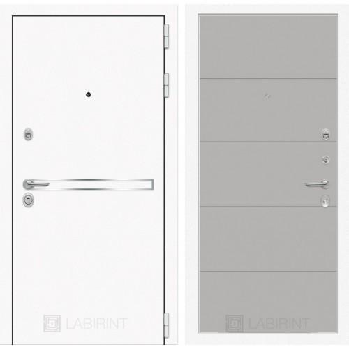 Входная дверь Лайн WHITE 13 - Грей софт
