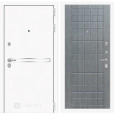 Входная дверь Лайн WHITE 09 - Лен сильвер грей