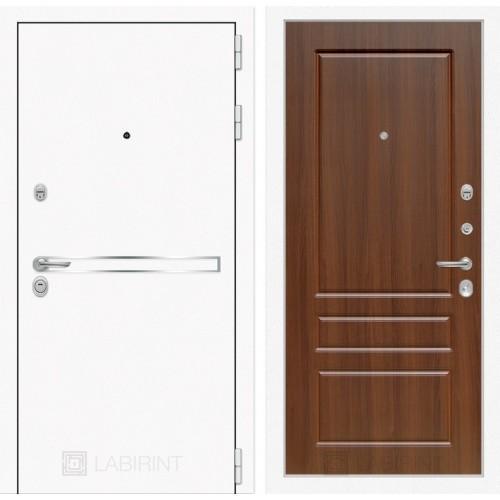 Входная дверь Лайн WHITE 03 - Орех бренди