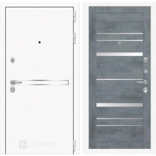 Входная дверь Лайн WHITE 20 - Бетон темный, зеркальные вставки