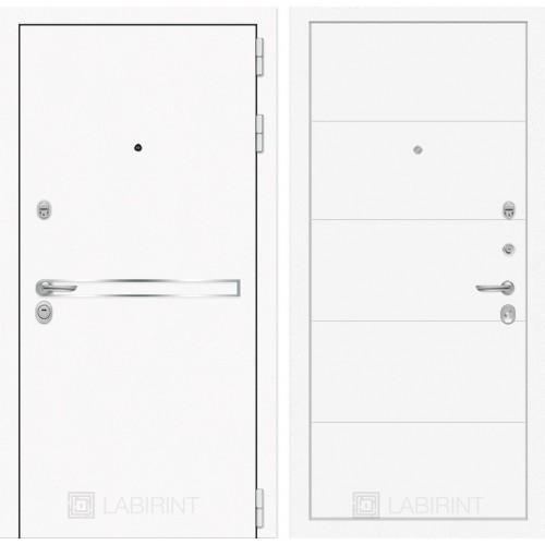 Входная дверь Лайн WHITE 13 - Белый софт