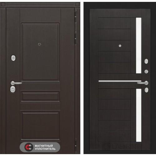 Входная дверь Мегаполис 02 - Венге, стелко белое