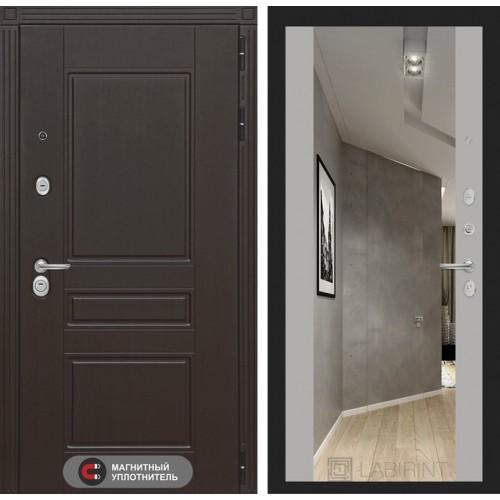 Входная дверь Мегаполис с зеркалом Максимум - Софт Грей