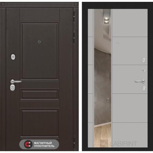 Входная дверь Мегаполис с Зеркалом 19 - Грей софт