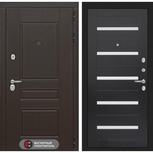 Входная дверь Мегаполис 01 - Венге, стекло белое