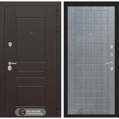 Входная дверь Мегаполис 09 - Лен сильвер грей