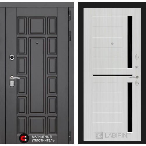 Входная дверь Нью-Йорк 02 - Сандал белый, стекло черное