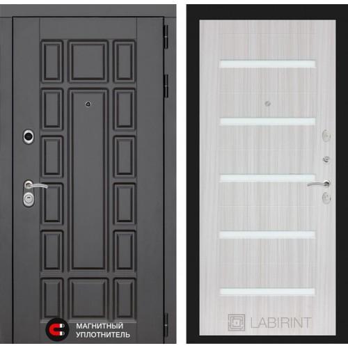 Входная дверь Нью-Йорк 01 - Сандал белый, стекло белое