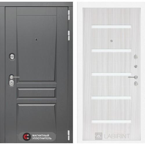 Входная дверь Платинум 02 - Венге, стекло белое