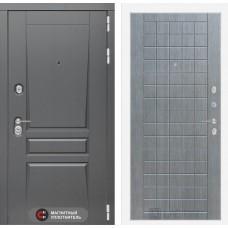 Входная дверь Платинум 09 - Лен сильвер грей