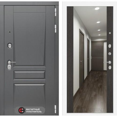 Входная дверь Платинум с Зеркалом Максимум - Венге