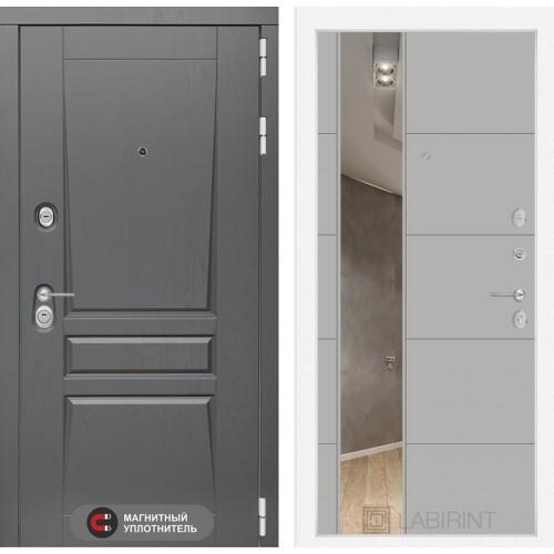 Входная дверь Платинум с Зеркалом 19 - Грей софт