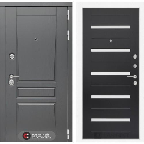 Входная дверь Платинум 01 - Венге, стекло белое