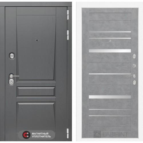 Входная дверь Платинум 20 - Бетон темный, зеркальные вставки