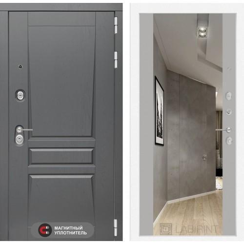 Входная дверь Платинум с Зеркалом Максимум - Грей софт