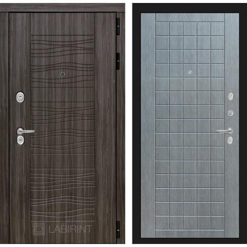 Входная дверь SCANDI Дарк грей 09 - Лен сильвер грей
