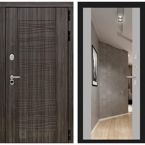 Входная дверь SCANDI Дарк грей с Зеркалом Максимум - Софт Грей