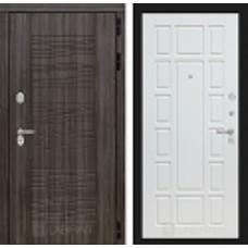 Входная дверь SCANDI Дарк грей 12 - Белое дерево