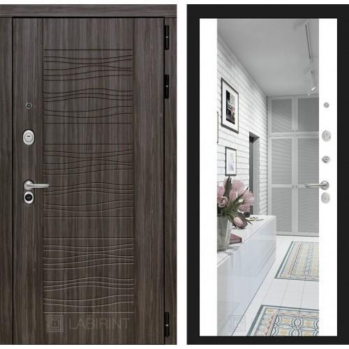 Входная дверь SCANDI Дарк грей с Зеркалом Максимум - Белый софт