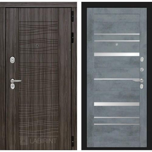 Входная дверь SCANDI 20 - Бетон темный, зеркальные вставки