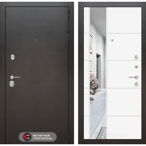 Входная дверь SILVER с Зеркалом 19 - Белый софт