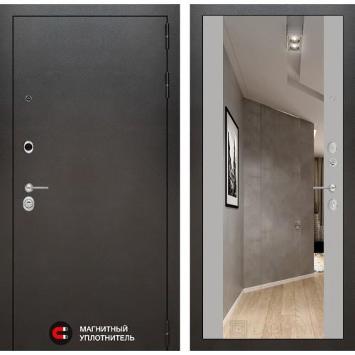 Входная дверь SILVER с Зеркалом Максимум - Софт Грей